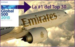 Emirates vale U$S 6.600 millones y es la mejor aerolínea del mundo