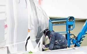 Cómo está siendo pintado el primer avión de ALAS Uruguay
