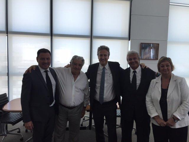 Presidente José Mujica recibió a directivos de Air France KLM